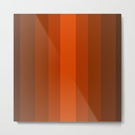 Sienna Spiced Orange 2 - Color Therapy Metal Print