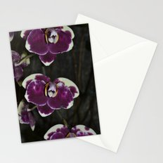 Purple Orchids Stationery Cards
