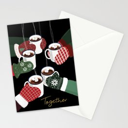Hot cocoa toast in black Stationery Cards