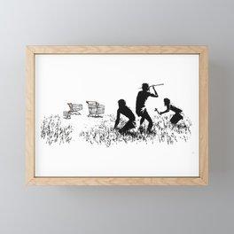 Banksy Trolleys Men Hunting Supermarket Carts Artwork Reproduction for Prints Posters Tshirts Framed Mini Art Print