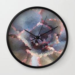 Crystallized Purple Succulent Wall Clock