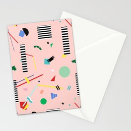 Memphis Geometry Lesson Stationery Cards