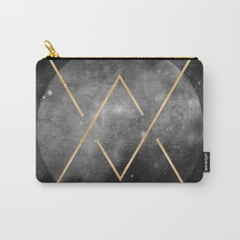 Gold Moon Geometric Tribal Design Carry-All Pouch