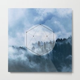 Wander into the wild blue mountains Metal Print