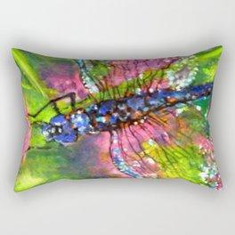 Title: painting - Dragonfly Rectangular Pillow