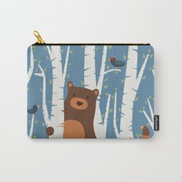 Bear and Birches Carry-All Pouch