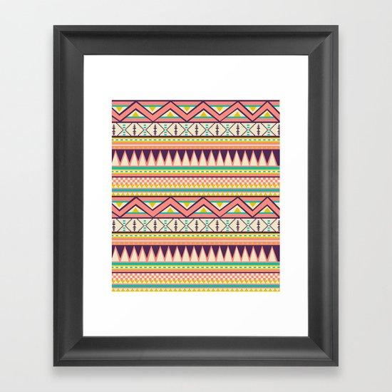 Ethnic love Framed Art Print