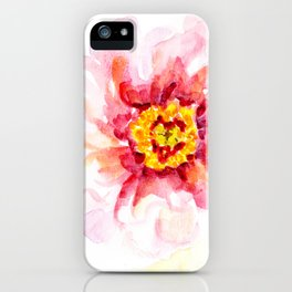 Peony Sherbet Painting iPhone Case