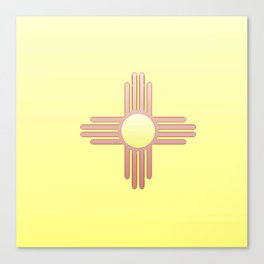 Flag of new mexico  -with color gradient Canvas Print