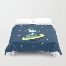 Space Alien Duvet Cover
