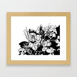 Flowers from a friend Framed Art Print