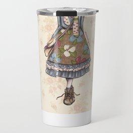 JAPANESSE DOLL ILLUSTRATION BY ALBERTO RODRÍGUEZ Travel Mug