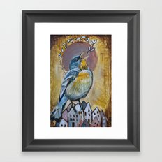 Sing over a city Framed Art Print