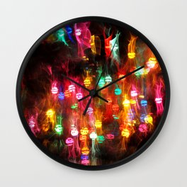 Party Twinkle Lights Wall Clock