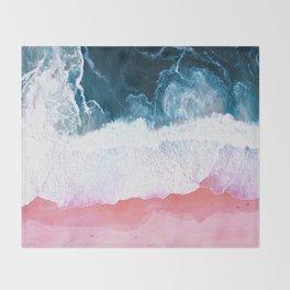 Aerial Coastal View Throw Blanket