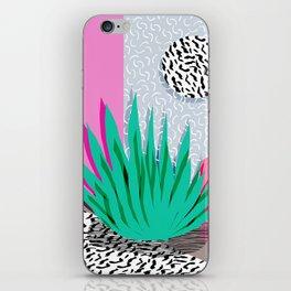 Dag - throwback memphis 1980s neon art pink pastel pattern black and white minimal art design urban iPhone Skin