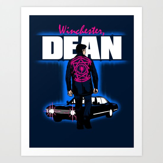 Dean Art Print