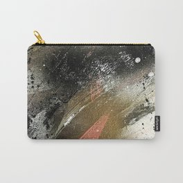 lighning [2]: a colorful abstract piece in black, white, gold, and pink Carry-All Pouch