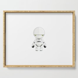 Marvin The Paranoid Android Minimal Sticker Serving Tray