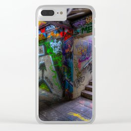 Leake Street London Graffiti Clear iPhone Case
