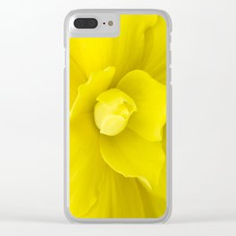 Monica Bryce Begonia Clear iPhone Case