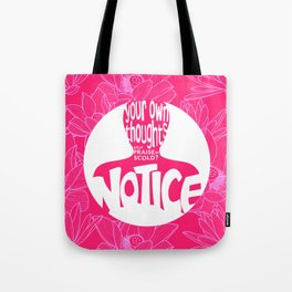Notice – Wow Pink (Lotus Pattern) Tote Bag