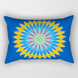 Colorful abstract star on dark blue background Rectangular Pillow