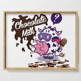 Chocolate Milk Serving Tray