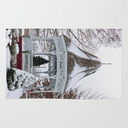Courthouse Gazebo in the Snow Rug