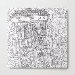 Doctor Police Box Metal Print