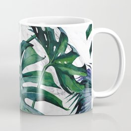 Tropical Palm Leaves Classic on Marble Coffee Mug