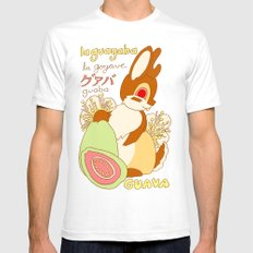 Jackalope and Guava Mens Fitted Tee SMALL White