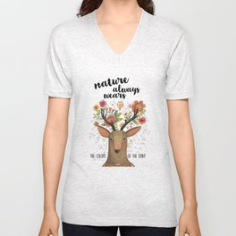 The Colors of Nature Unisex V-Neck