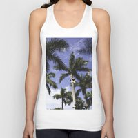 palms Tank Tops featuring Palms by Chrissy Jenks