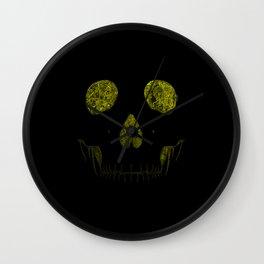 SKULLFACE #1 - YELLOW Wall Clock