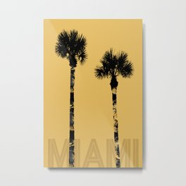 Graphic Art PALM TREES MAI | yellow & gold Metal Print
