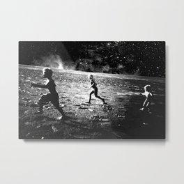 RUN ON MARS - black 17 Metal Print