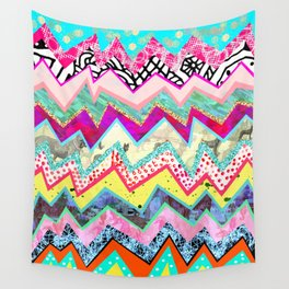 Rainbow Abstract Geometric  Wall Tapestry