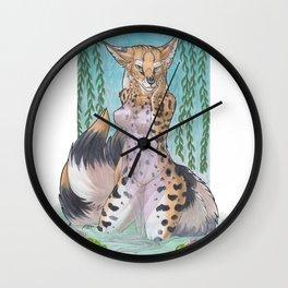 Serval Kitsune - SFW Wall Clock