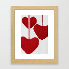christmas decoration and valentine heart shape Framed Art Print
