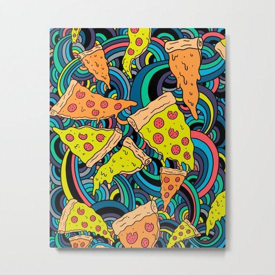 Pizza Meditation Metal Print
