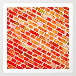 orange wall I Art Print