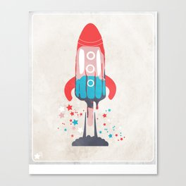 Rocket Sicle Canvas Print