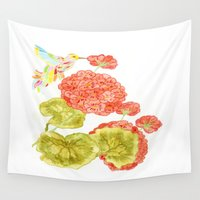 hummingbird Wall Tapestries featuring Hummingbird by Thesecretcolors