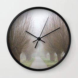 Misty willow lane Wall Clock