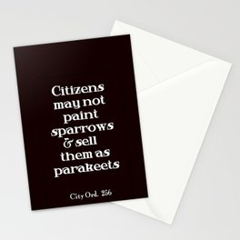 City Ord.  256 Stationery Cards