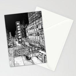 Mong Kok Nights (B&W) Stationery Cards