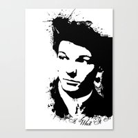louis tomlinson Canvas Prints featuring Louis Tomlinson by Aki-anyway