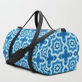 Moroccan Tile, Cobalt, Navy and Light Blue Duffle Bag