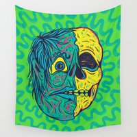 holiday Wall Tapestries featuring TODD HOLIDAY by Dip Dripper